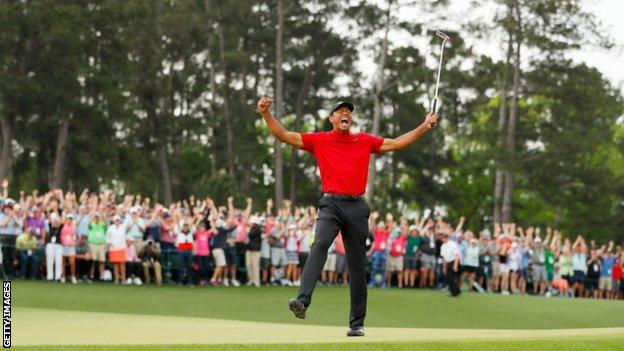 Tiger Woods claimed his fifth Green Jacket land 15th major title last year