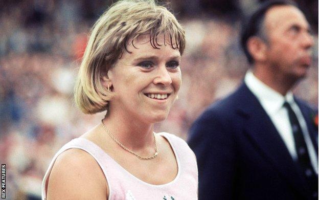 Sue Barker at Wimbledon in 1977