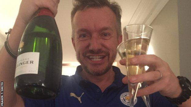 Fraser celebrates Leicester's Premier League title win in 2016