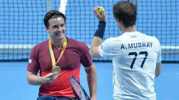 Andy Murray (right) is a keen supporter of Gordon Reid