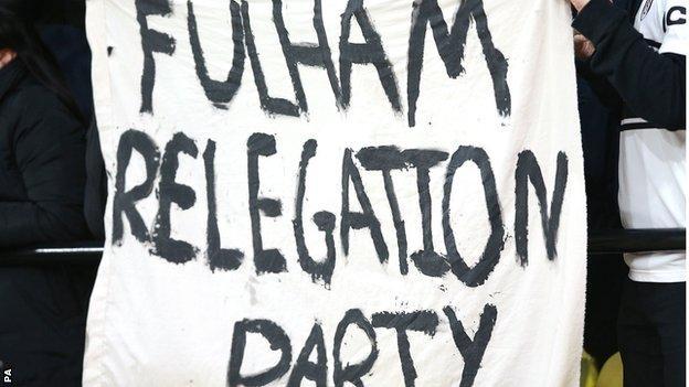 Fulham relegation party