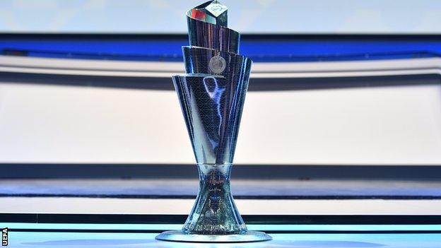 The Uefa Nations League trophy