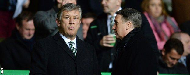 Chief executive Peter Lawwell in the Celtic stand