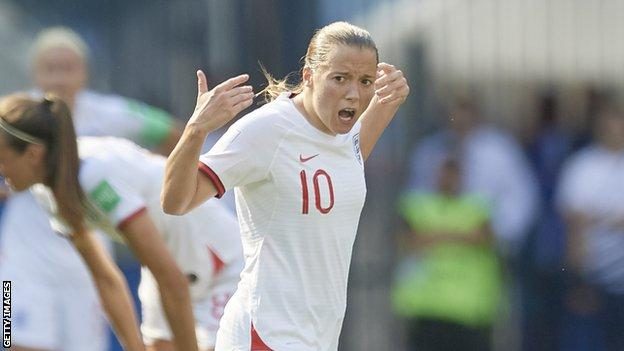 Fran Kirby celebrates scoring against Sweden
