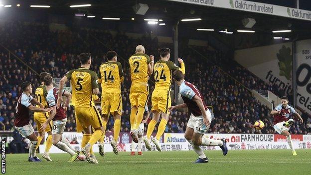 Burnley free-kick