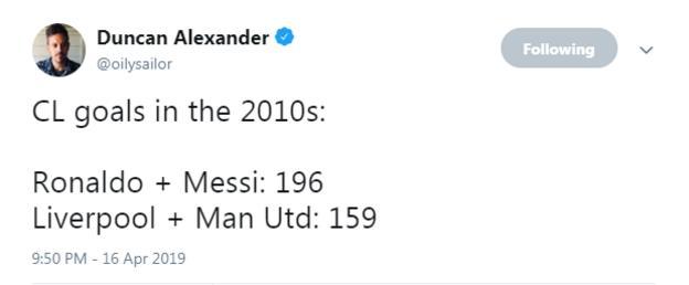 Duncan Alexander tweet