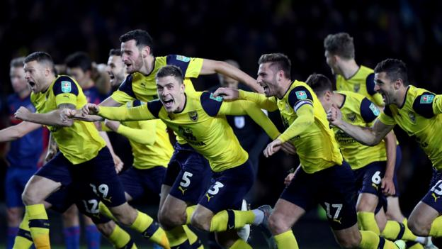 Holders Man City drawn away at Oxford in EFL Cup quarter-finals