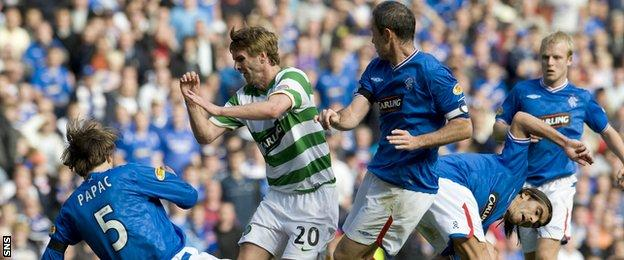 A match between Rangers and Celtic in 2009