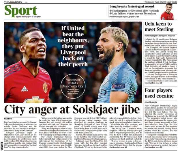 Times' back page