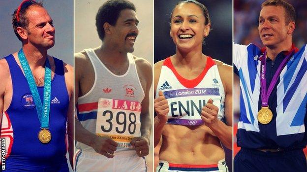 Steve Redgrave, Daley Thompson, Jessica Ennis-Hill and Chris Hoy