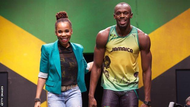 Cedella Marley and Usain Bolt