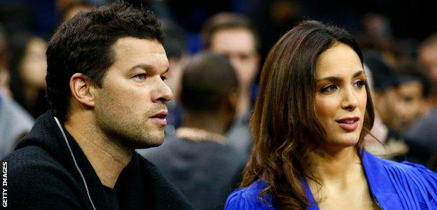 Former Chelsea footballer Michael Ballack and girlfriend Natacha Tannous