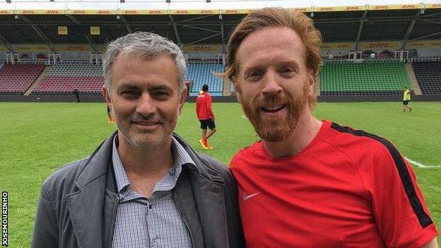 Jose Mourinho and Damien Lewis