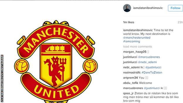 Zlatan Ibrahimovic instagram post