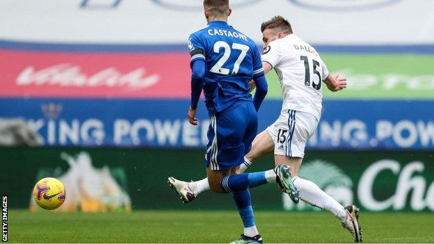 Stuart Dallas scored 127 seconds after Harvey Barnes had given Leicester City the lead.