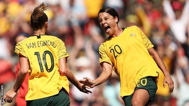 Australia celebrate scoring