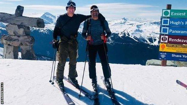 Darren Till pictured during his skiing trip to Canada