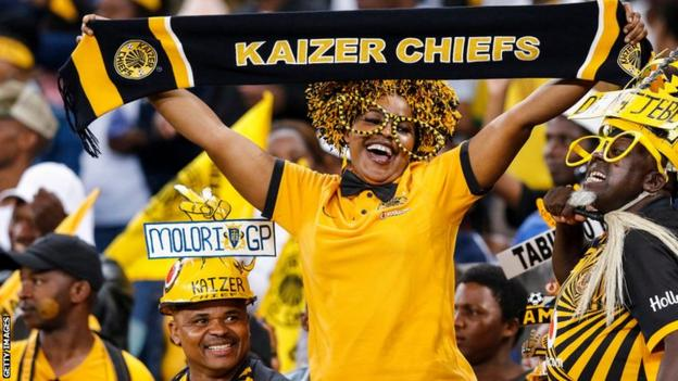 Fans of South African football club Kaizer Chiefs