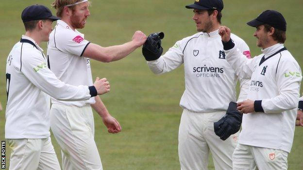 Liam Norwell has now had 12 'five-fers' in his career but this was his first for Warwickshire since his debut against Somerset at Taunton in 2019