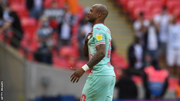 Andre Ayew saluted Swansea City's fans after the club's play-off final defeat by Brentford