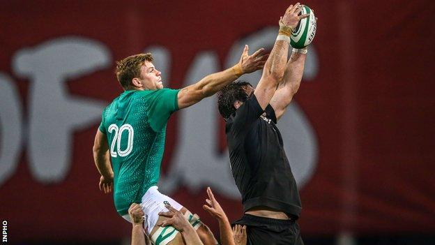 Jordi Murphy during Ireland's win over New Zealand last November