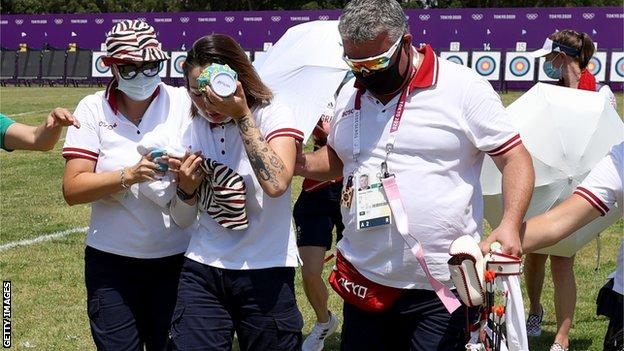 Svetlana Gomboeva is led away