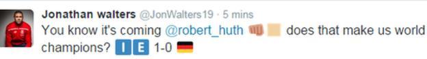 Jonathan Walters tweet