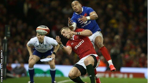 George North was forced off the field against France and failed a head injury assessment