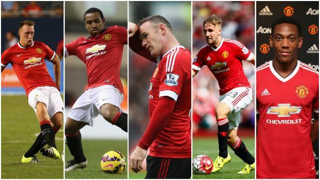 Phil Jones, Anderson, Wayne Rooney, Luke Shaw, Anthony Martial