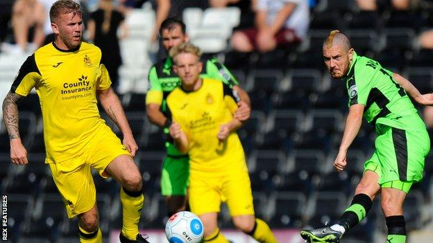 Southport in action against Forest Green
