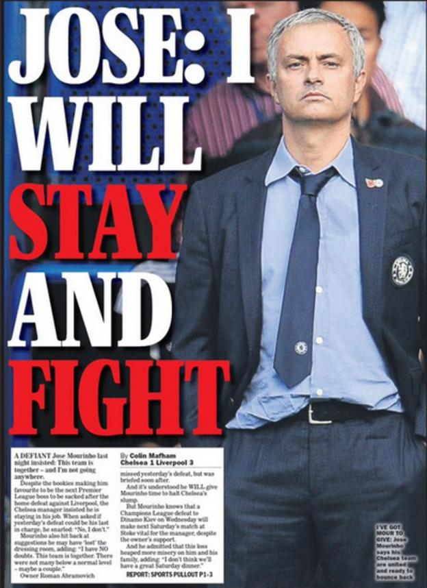 Sunday Express back page