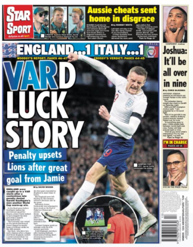 Wednesday's Star back page