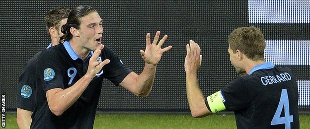 Andy Carroll and Steven Gerrard