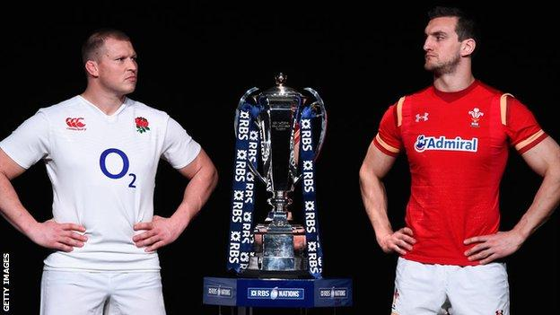 Dylan Hartley and Sam Warburton with the Six Nations trophy
