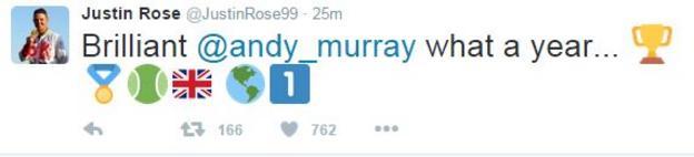 Justin Rose tweet