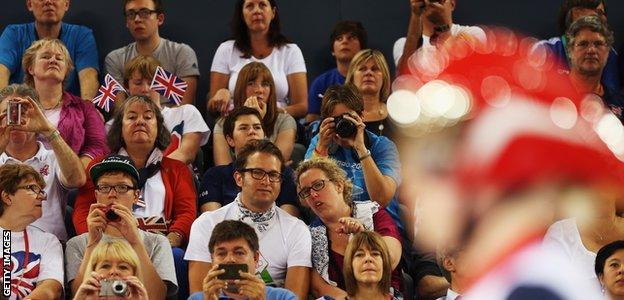 Crowds at London 2012 Paralympics