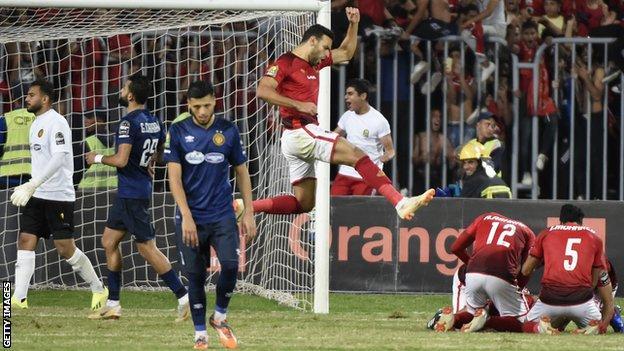 Al Ahly's goal