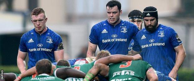 Leinster's Dan Leavy, James Ryan and Scott Fardy