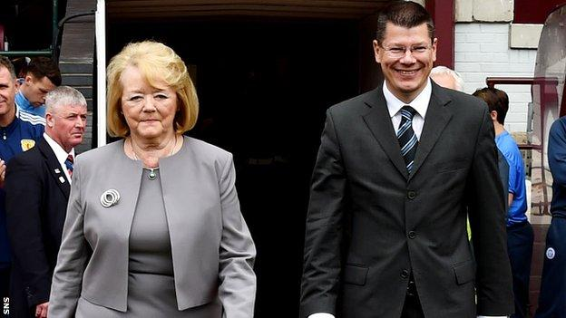 Ann Budge and Neil Doncaster