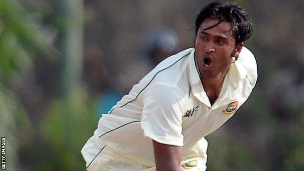 Bangladesh cricketer Shahadat Hossain
