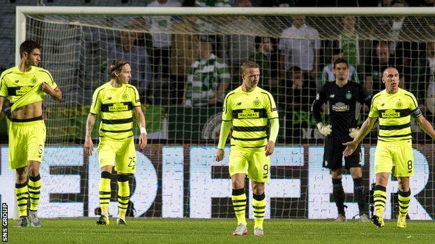 Celtic were dumped out of the Champions League in Sweden
