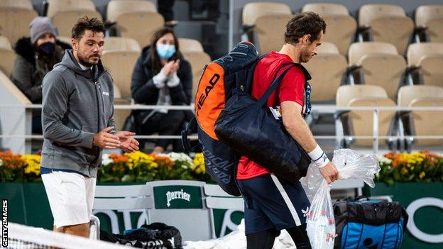 Andy Murray managed to win just six games against Stan Wawrinka