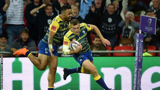 Garyn Smith scored a try for Cardiff Blues in the 2018 Challenge Cup final success over Gloucester in May 2018