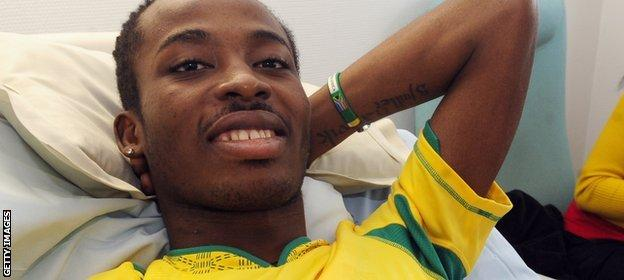 Obilale was flown to hospital in South Africa for surgery