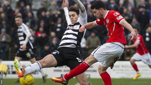 Lewis Morgan cracks home St Mirren's second goal