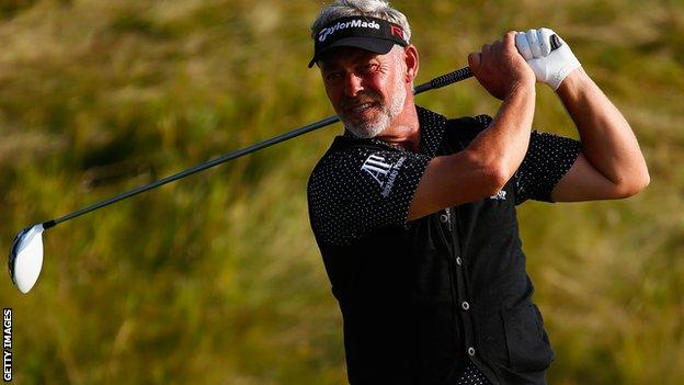 Darren Clarke shot a two under par round of 69 on the opening day of the Danish Open