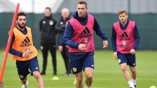 Kevin McDonald in Scotland training