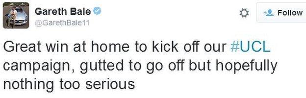 Gareth Bale tweet