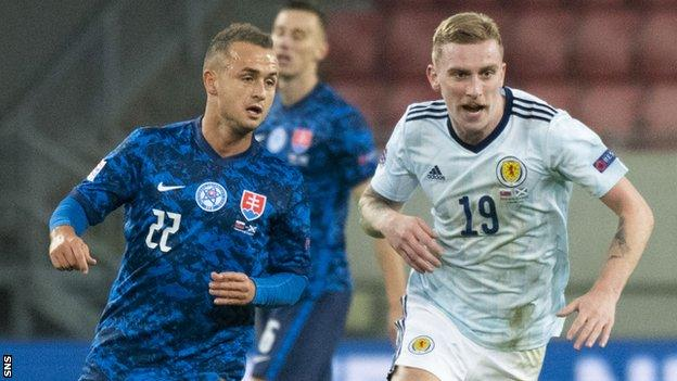 Oli McBurnie spurned a couple of presentable opportunities against Slovakia on Sunday