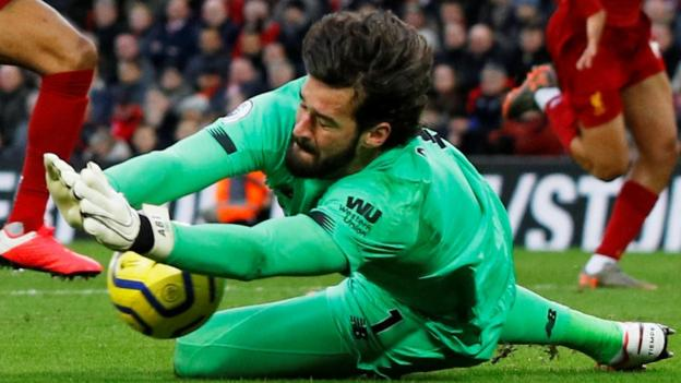 Liverpool's Alisson out of Bournemouth game with hip injury thumbnail